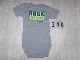 240 Body grau mit neon grün ROCK von NAME IT Gr. 74