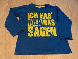 2813 LA Shirt blau mit neon grüner Schrift Ich hab hier das sagen von TOPOMINI Gr. 92/98