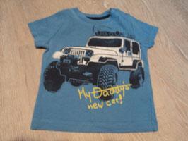 2794 Shirt blau My Daddys new Car von ESPRIT Gr. 74