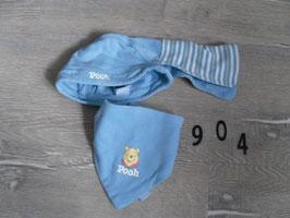 904 Mütze mit Halstuch Winnie Pooh  Gr. 86/92