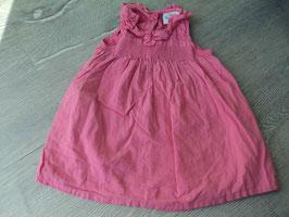 V-62 Sommerkleid in pink- vorne Schleife -hinten kurze Knopfleiste von TOPOMINI Gr. 74