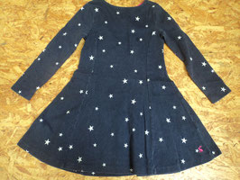 F-193 Winterkleid dunkelblau/lila mit weißen Sternen von JOULES Gr. 110
