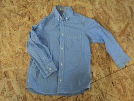 84 Blau weiß karriertes Hemd von H&M Gr. 116