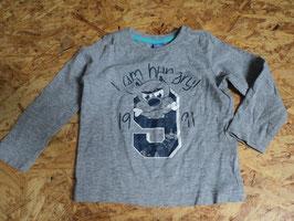AL-4 LA Shirt in grau meliert mit Hund von DOPODOPO Gr. 80