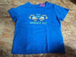 AL-202  Shirt in blau mit 2 Bagger 'Ich bin 2 Bagger alt ' von H&M Gr. 92