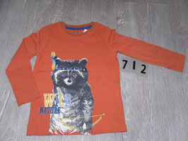 712 LA Shirt orange mit Biber Gr. 98/104