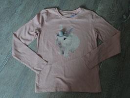 3247 LA Shirt rosa  vorne Hase mit Bömmelchen und hinten Hase von hinten ;) von TOM TAILOR Gr. 128/134