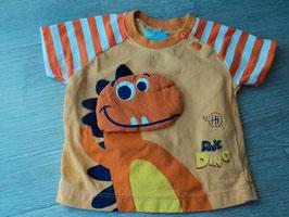 V-89 Shirt orange mit Dino von MODA BIMBI Gr. 50-68