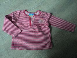 3036 LA Shirt rosa pink gestreift von TOPOLINO Gr. 80