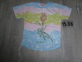 1536 Shirt Blume und Pailetten Gr. 100/110