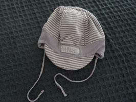 M-82 Sommer Jersey Mütze grau weiß gestreift von BOHO Gr. 49