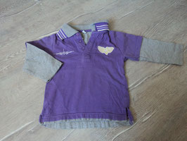 2348 LA Shirt mit Kragen lila grau  Gr. 92