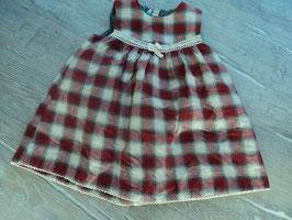 SS-149 ✿Schönes Kleid karriert rot beige 2 lagig von H&M ✿ Gr. 80