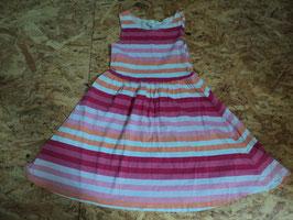 SS-104 Sommerkleid in rosa/pink/orange/weiß gestreift von H&M Gr. 122/128