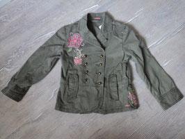 2213 Tolle Jacke khaki mit Pailetten und Perlen von S'OLIVER Gr. 116/122