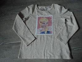211 LA Shirt beige meliert Wendepailetten Olaf und ANNA von C&A Gr. 134