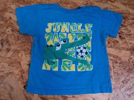 M-213 Shirt türkis mit Krokodil und Fußball Jungle Winners von TOPOMINI Gr. 86