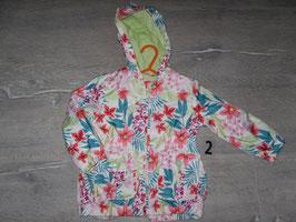 2 Jacke mit Blumen von Waikiki Gr. 80/86