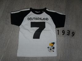 """1939 Shirt weiß schwarz Deutschland """"7""""  Gr. 80"""