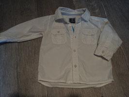 2890 Weißes Hemd mit Brusttaschen von H&M Gr. 86
