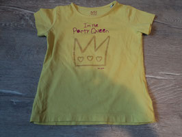 3144 Shirt gelb I'm the Party Queen mit Krone von TOM TAILOR Gr. 92/98