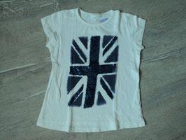 3181 Shirt weiß blau mit Pailetten von ZARA GIRLS Gr. 140