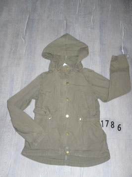 1786 Übergangsmantel  khaki mit abnehmbarer Mütze  von H&M Gr. 123/140