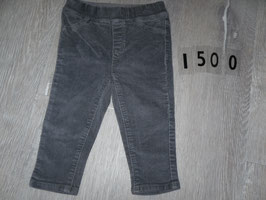 1500 Treggins/Cordhose grau von OBAIBI Gr. 86