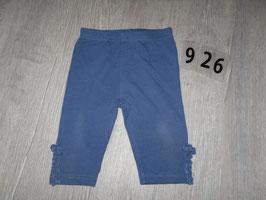 926 Leggins blau mit Schleife unten am Bein Gr. 80