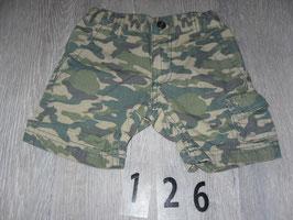 126 Shorts camoufllage khaki Gr. 74/80