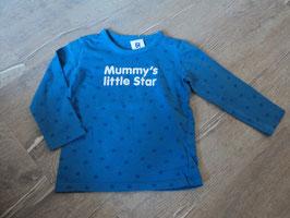1700 LA Shirt blau mir Sterne Mummy'S little Star vin KIDS BY TCHIBO Gr. 86/92