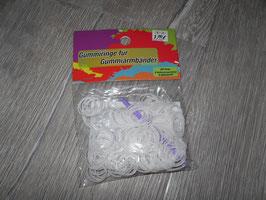 1110 Gummiringe weiß für Armbänder zu basteln