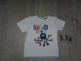 576 Shirt weiß mit Qualle von FRIENDZ Gr. 80