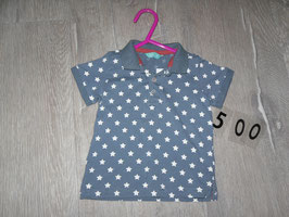 500 Mega cooles Shirt blaugrau mit weißen Sternen von HEMA Gr. 68