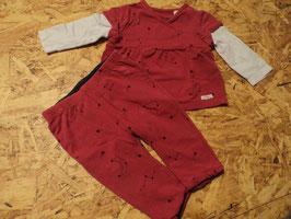 SR-79 Set LA Shirt in pink /rosa mit Sterne Mond-Wendehose in pink oder dunkelgrau von S'OLIVER Gr. 56