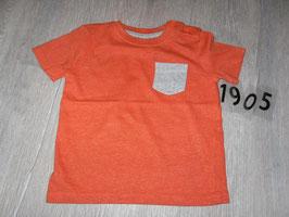 1905 Shirt orange mit grauer Brusttasche von F&F Gr. 80