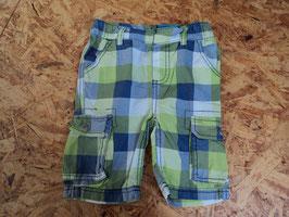 288 Karrierte Shortss in grün-blau-weiß von DOPODOPO Gr. 86