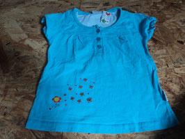L-4 Shirt in türkis mit Schmetterlinge und Blume Gr. 104