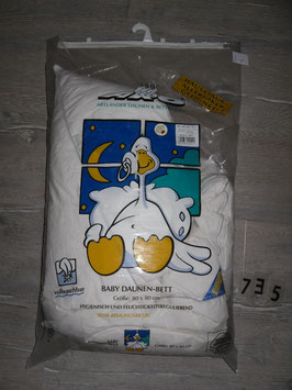 735 Baby-Daunen-Bett/Kissen  80x80