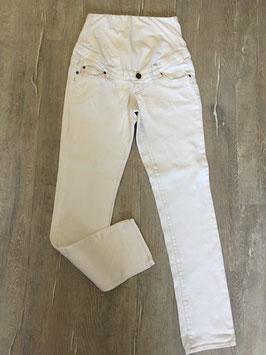 1869 Jeans ivory mit hell braune Nähte von Yessica Gr. 38