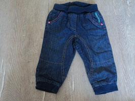 2258  Gefütterte Jeans blau mit Hello Kitty von C&A  Gr. 74