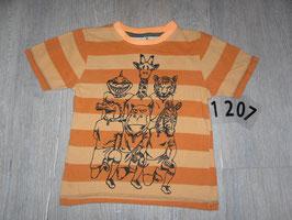 1207 Shirt orange mit Tiere Gr. 110