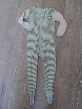 2510 Schlafi mit Fuß beige blau gelb von SUPERBABY Gr. 86/92