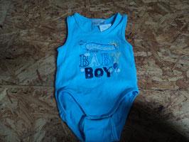 AL-38 Body ohne Ärmel hellblau Welcome little Baby Boy Gr. 74