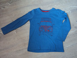 2644 LA Shirt blau rot mit VW Bus von KIDS BY TCHIBO Gr. 98/104