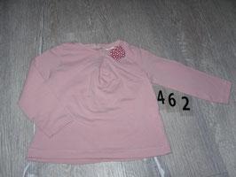462 LA Shirt altrosa mit Schleife von ZARA Gr. 86