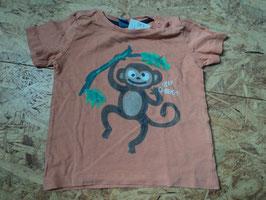 AL-105 Shirt in orange mit Affe von DOPODOPO Gr. 92