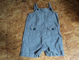 L-34  Sommerlatzhose in blau/beige gestreift -Leinenstoff von BABY GAP Gr. 6-12 Monate