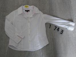 1743 Schickes weißes Hemd von Tommy Hilfiger  Gr. 104