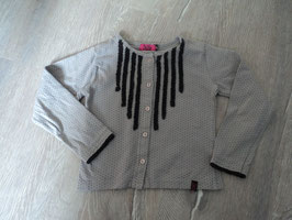 3232 Jäckchen in grau mit schwarzen Punkten, Toller Jersey Stoff von ZIEZOO (Holländische Marke)